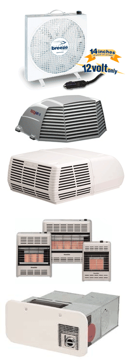 portable fans, air vents, and a/c units